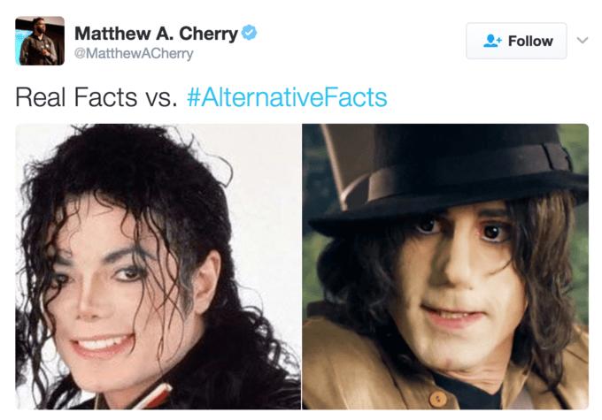 Face - Matthew A. Cherry MatthewACherry Follow Real Facts vs. #AlternativeFacts