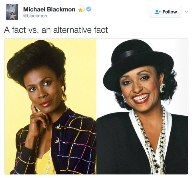 Hair - Michael Blackmon Follow @blackmon A fact vs. an alternative fact
