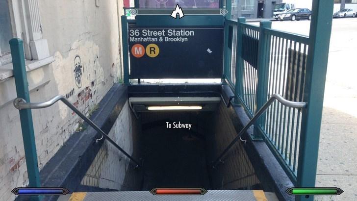 Transport - 36 Street Station Manhattan & Brooklyn MR To Subway