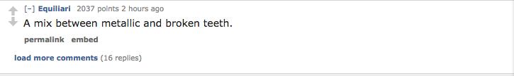 A mix between metallic and broken teeth permalink embed load more comments (16 replies)