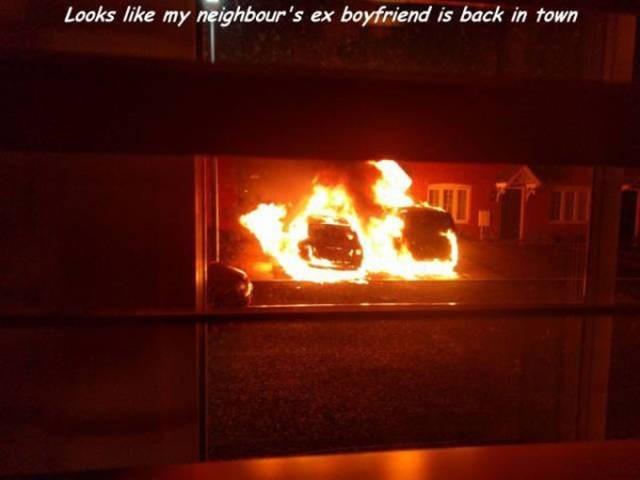 Heat - Looks like my neighbour's ex boyfriend is back in town