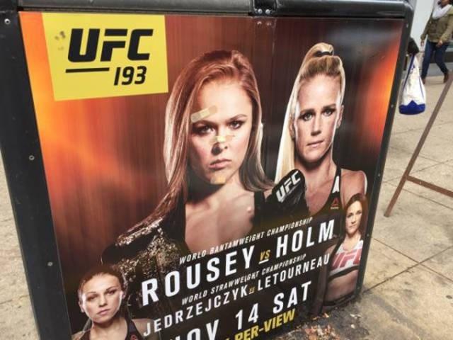 Poster - UFC 193 UFC WORLO BANTAMWEIGHT CHAMPIGNSP ROUSEY &HOLM WORLD STRAWWELGNT CHAMPISHP JEDRZEJCZYK LETOURNEAU Oy 14 SAT PER-VIEW