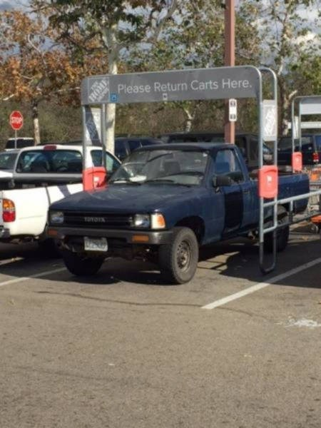 Land vehicle - Please Return Carts Here. TOYOTS