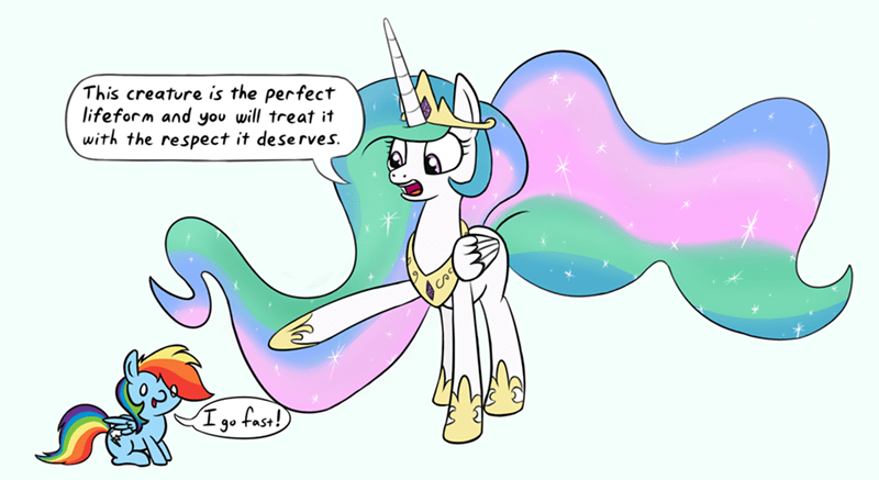 princess celestia,rainbow dash