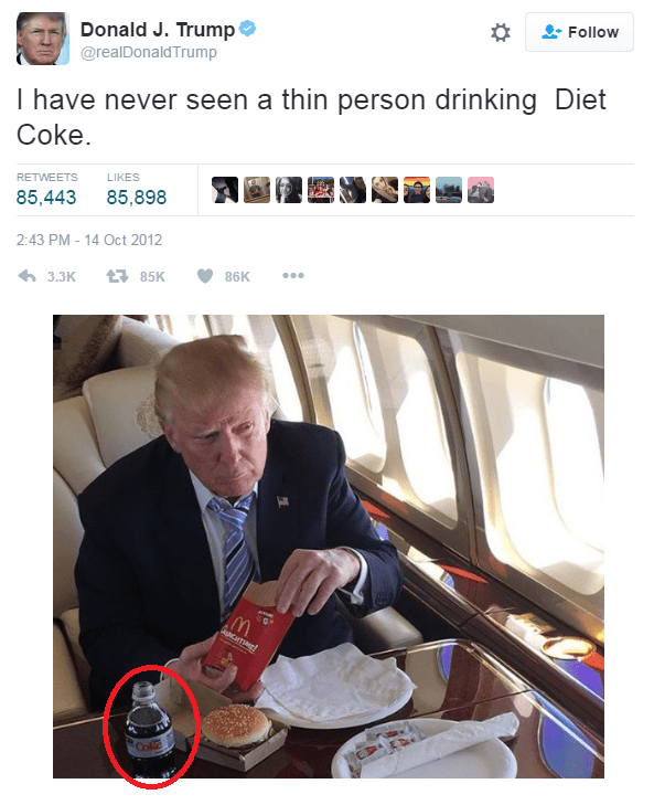 trump diet coke fail