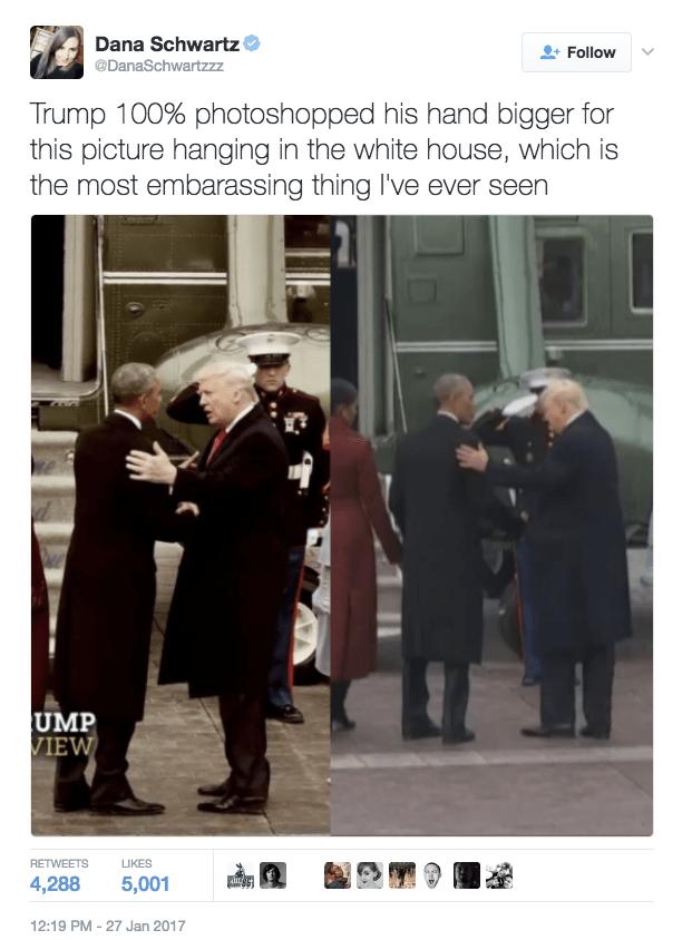 fail tweet trump small hands photoshop