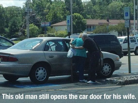 Car - POVS This old man still opens the car door for his wife.