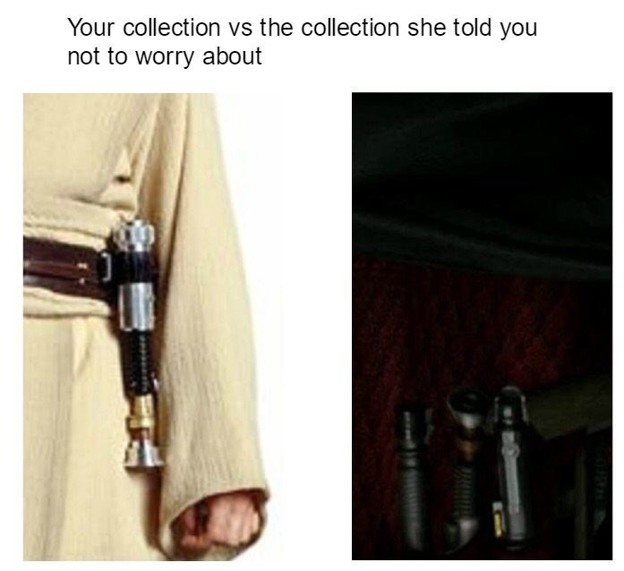 Product - Your collection vs the collection she told you not to worry about