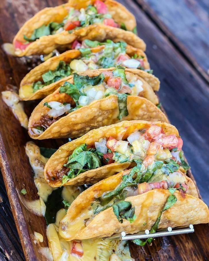 Taco Tuesday of crispy cheese tacos