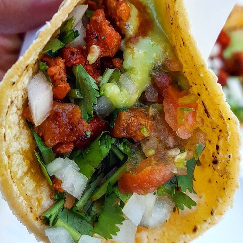 Taco Tuesday that is colorful and probably healthy