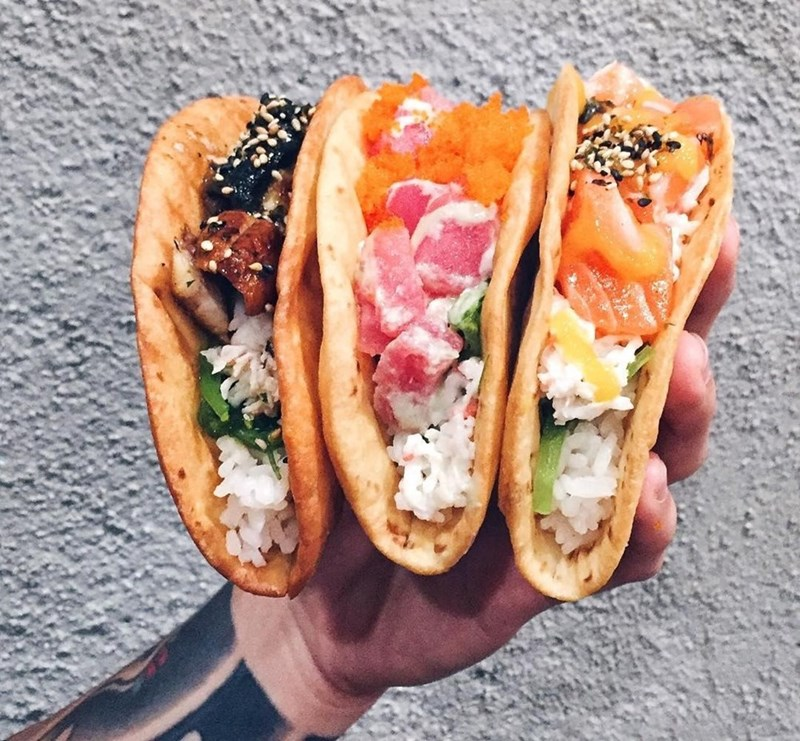 Taco Tuesday in a compact, easy to hold way