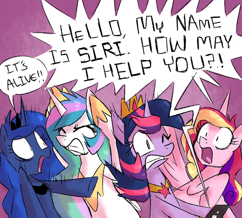 princess cadence siri twilight sparkle princess luna princess celestia apple - 9006297344
