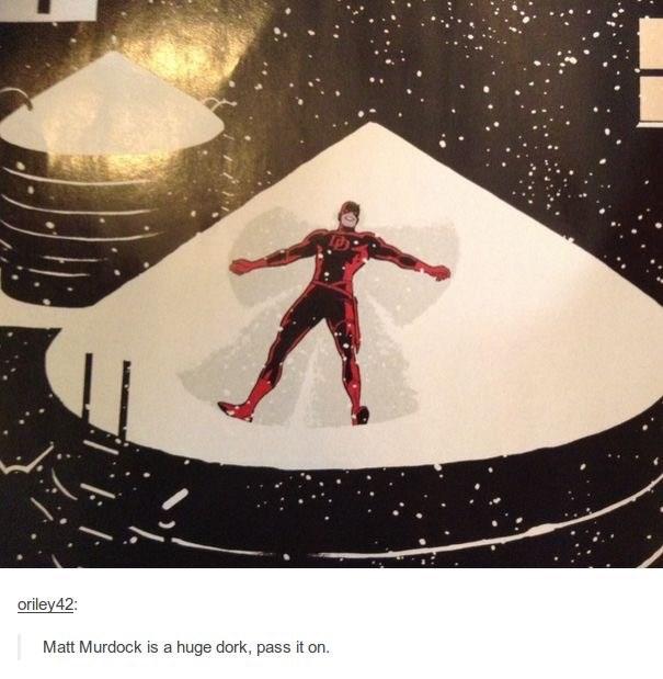 Illustration - oriley42: Matt Murdock is a huge dork, pass it on