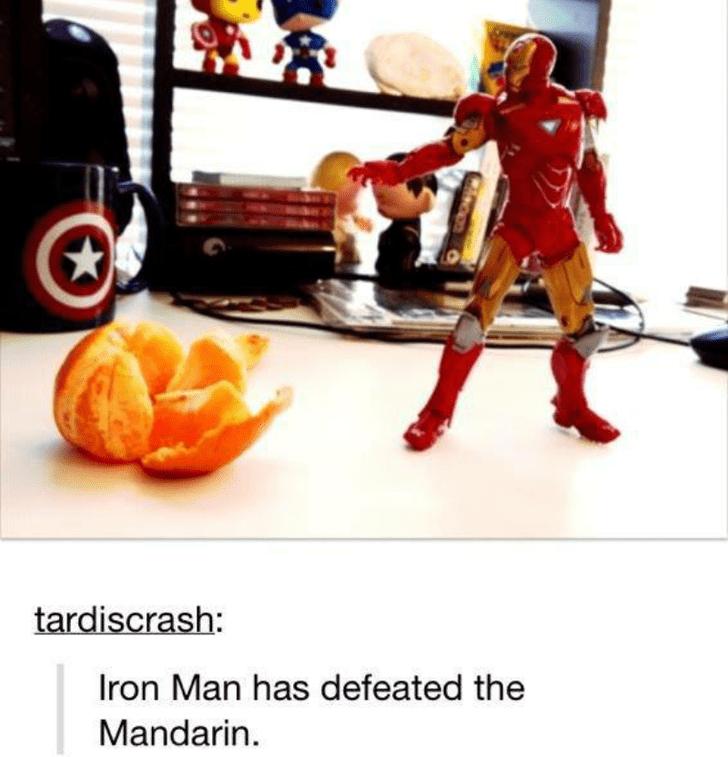 Toy - tardiscrash: Iron Man has defeated the Mandarin.
