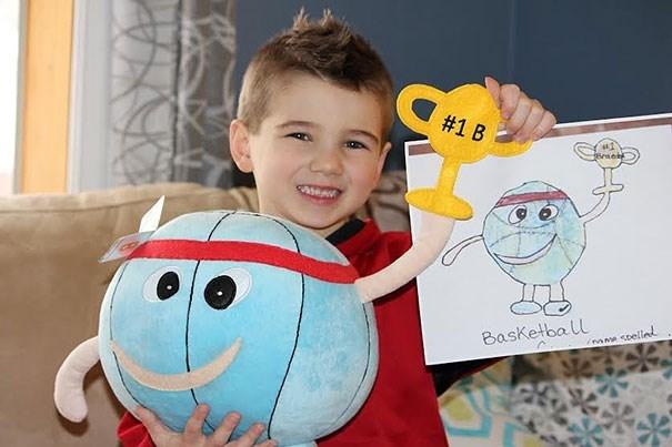 Child - #1 B Basketba l espelle