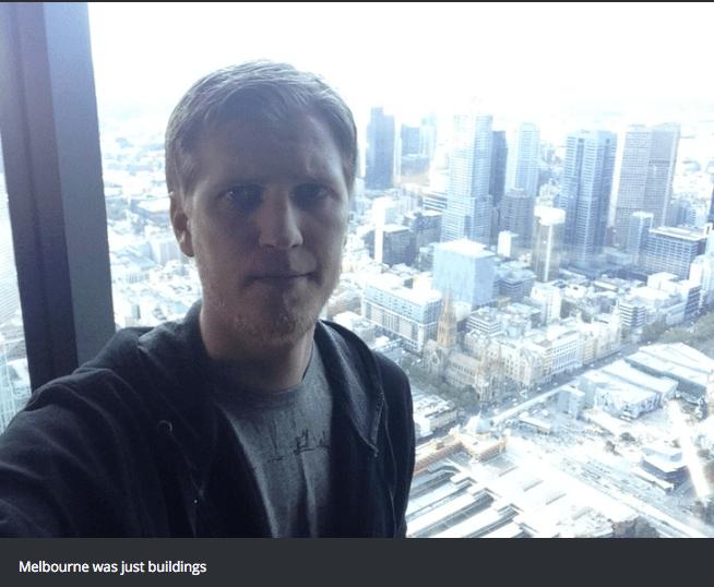 Selfie - Melbourne was just buildings