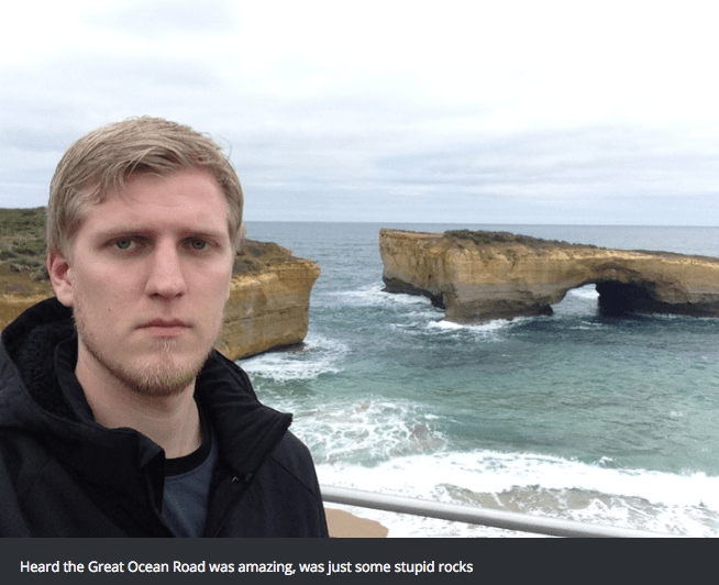 Coast - Heard the Great Ocean Road was amazing, was just some stupid rocks