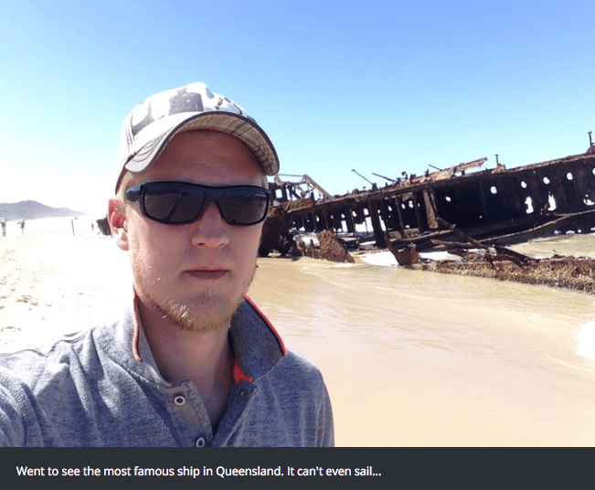 Eyewear - Went to see the most famous ship in Queensland. It can't even sai...