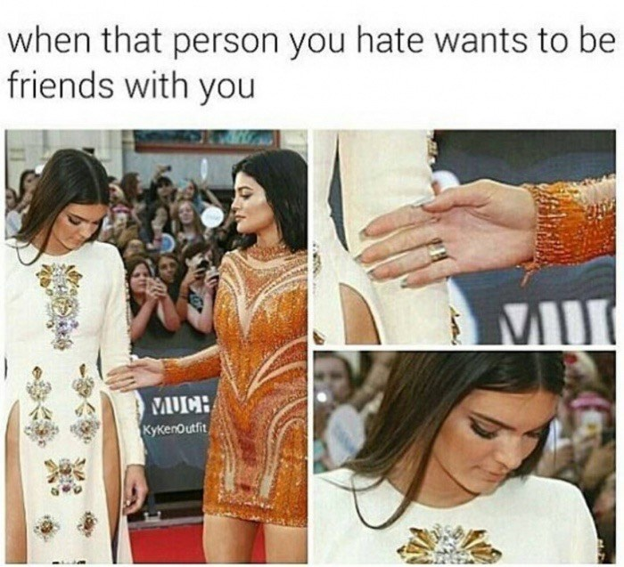 Orange - when that person you hate wants to be friends with you MII MUCH KyKenOutfit