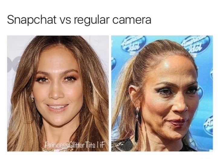 Face - Snapchat vs regular camera Princes&Clitter Tits IF