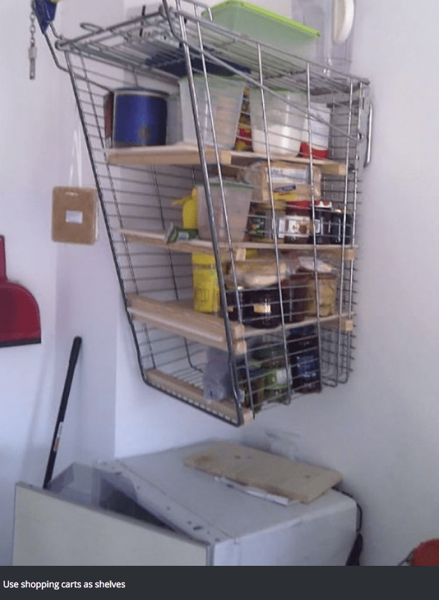 Cage - Use shopping carts as shelves