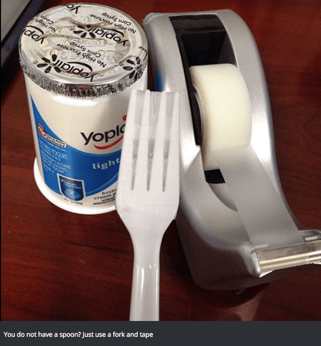 Metal - dok No High Corn Syrup No High FructOse SEAST Corn Syrup GURT Yopl acaicast light boste cream P You do not have a spoon? Just use a fork and tape