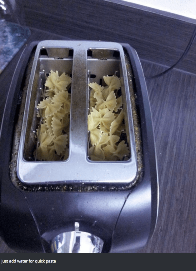 Cuisine - Just add water for quick pasta