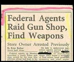 Text - Federal Agents Raid Gun Shop, Find Weapons Store Owner Arrested Previously On July 2, endercover nar csbcr agents served war eme to search drugs They fond and min, hand gr ec ysamite and ther eple By Brian Barber Warld Seff We Pedersl agents Moeday SEIiale abege hat kt in