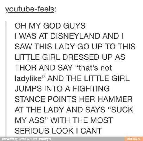 fail image little girl thor