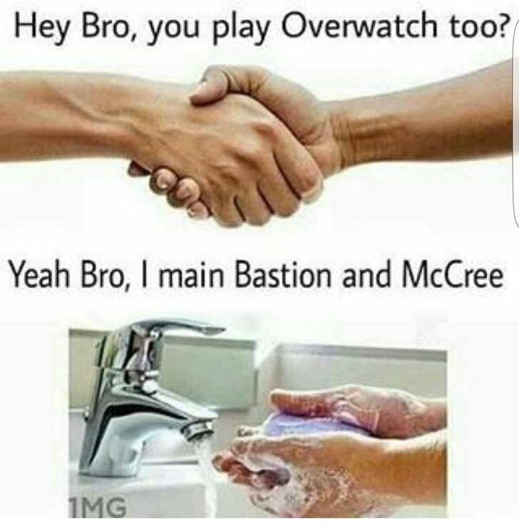 Skin - Hey Bro, you play Overwatch too? Yeah Bro, I main Bastion and McCree 1MG