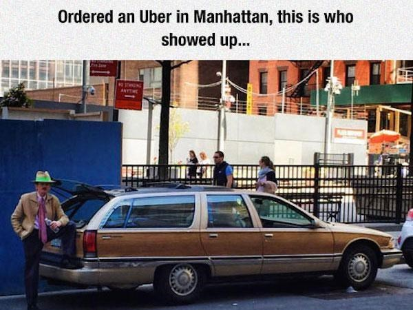Land vehicle - Ordered an Uber in Manhattan, this is who showed up... staN ANYTM