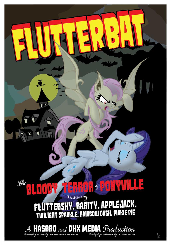flutterbat rarity ponify fluttershy dracula - 9008282880