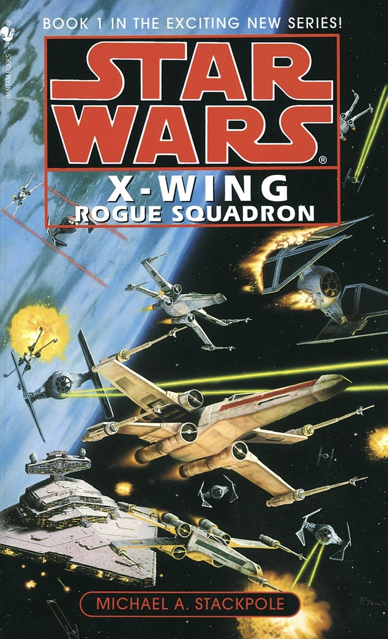 Poster - ΚΤAR WARS BOOK 1 IN THE EXCITING NEW SERIES! OVO X-WING ROGUE SQUADRON MICHAEL A. STACKPOLE