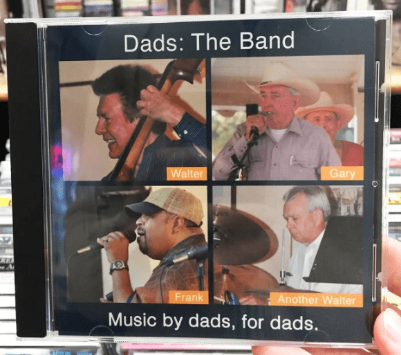 Photo caption - Dads: The Band Gary Walter Frank Another Walter Music by dads, for dads.