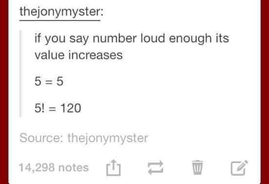 math meme about factorials