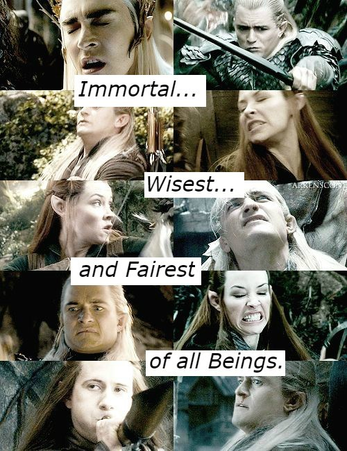 Facial expression - Immortal... Wisest... ARKENSC and Fairest of all Beings.