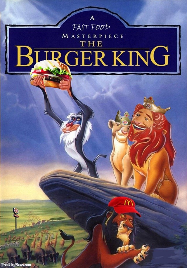Animated cartoon - A FAST FOOD MASTER PIECE THE |BITRGER KING Freaking News.com