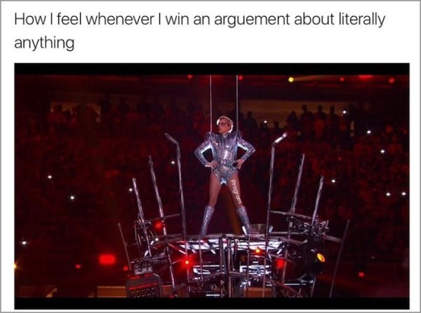 Performance - How I feel whenever I win an arguement about literally anything