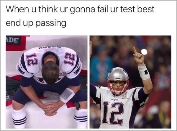 Helmet - When u think ur gonna fail ur test best end up passing ADE LAT 12 12