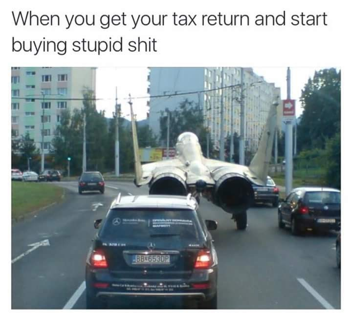 Motor vehicle - When you get your tax return and start buying stupid shit 8B 6530P