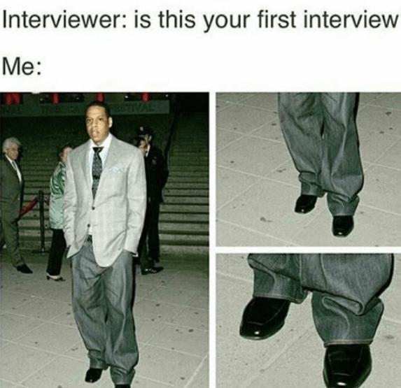 Footwear - Interviewer: is this your first interview Me: 9TIVAL