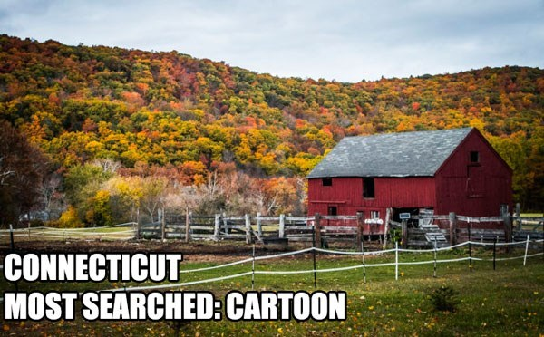 Most Searched Porn Term - Natural landscape - CONNECTICUT MOST SEARCHED: CARTOON