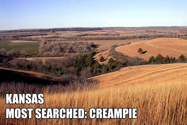 Most Searched Porn Term - Natural landscape - KANSAS MOST SEARCHED: CREAMPIE