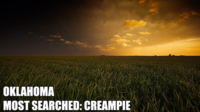 Most Searched Porn Term - Sky - OKLAHOMA MOST SEARCHED: CREAMPIE