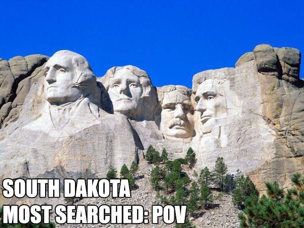 Most Searched Porn Term - Landmark - SOUTH DAKOTA MOST SEARCHED POV,