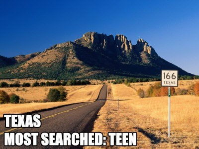 Most Searched Porn Term - Mountainous landforms - 166 TEXAS TEXAS MOST SEARCHED:TEEN