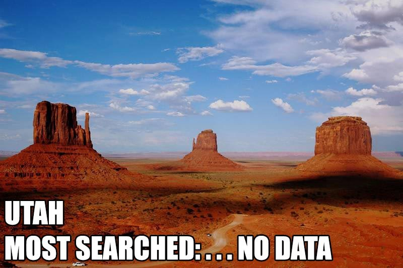 Most Searched Porn Term - Butte - UTAH MOST SEARCHED. NO DATA