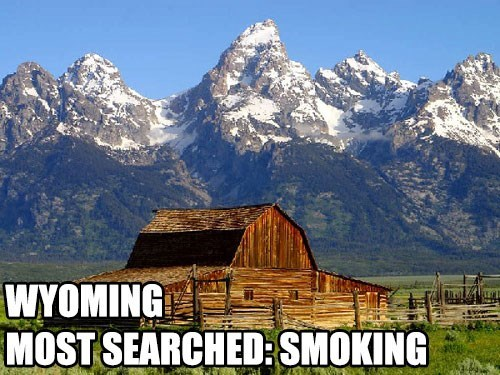 Most Searched Porn Term - Mountainous landforms - WYOMING MOST SEARCHED: SMOKING