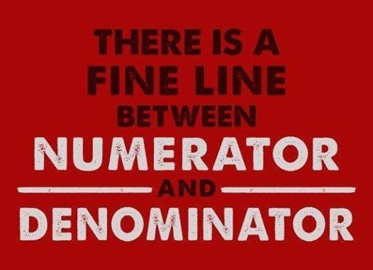 Font - THERE IS A FINE LINE BETWEEN NUMERATOR AND DENOMINATOR