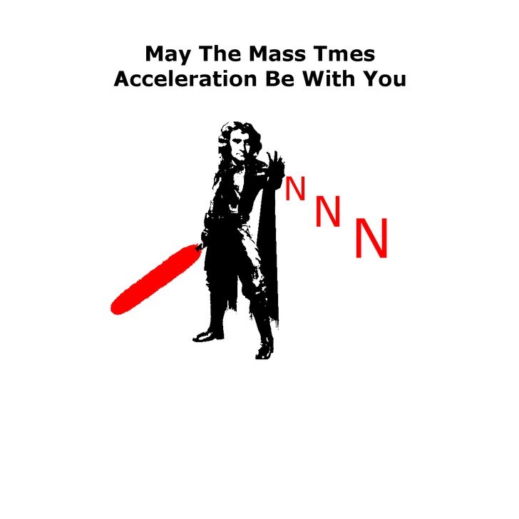 Text - May The Mass Tmes Acceleration Be With You 'N N